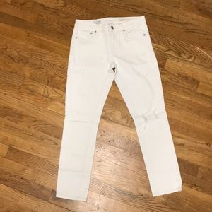 Gap 1969 off white girlfriend jeans sz 26